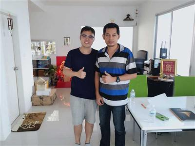 June 2016, Terence who is our sales manager visited Thailand and met his client.